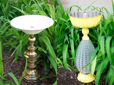 Lamp DIY Bird Bath from Natalie Wright