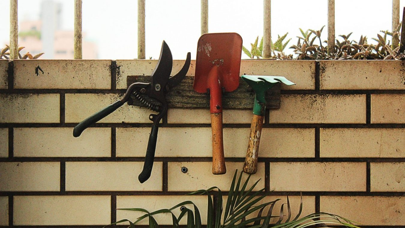 an example of garden tool storage